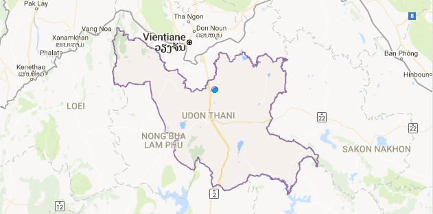 Lets look at the Udon map and see how big UdonThani is UDON A2Z