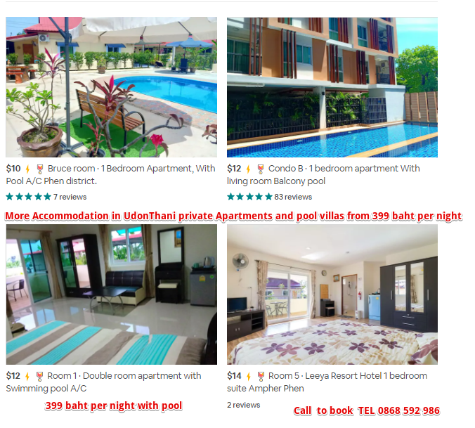 Accommodation in UdonThani for Christmas and new year 2019