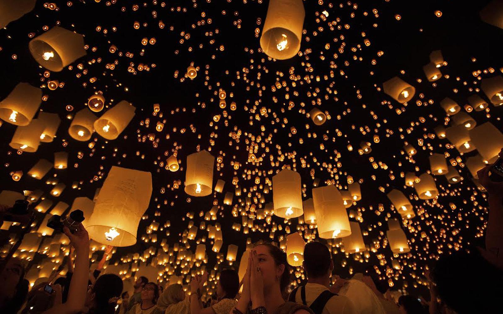 Thailand's Floating Lantern Festival | Travel
