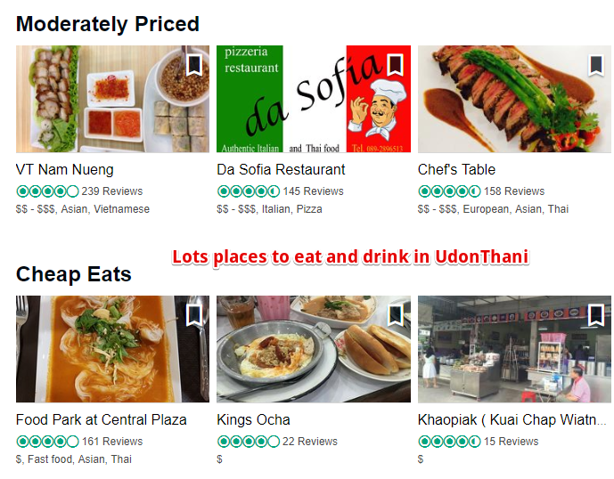 Restaurants in Udon Thani