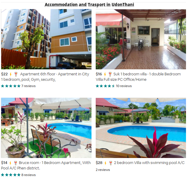 Accommodation in UdonThani at budget prices.
