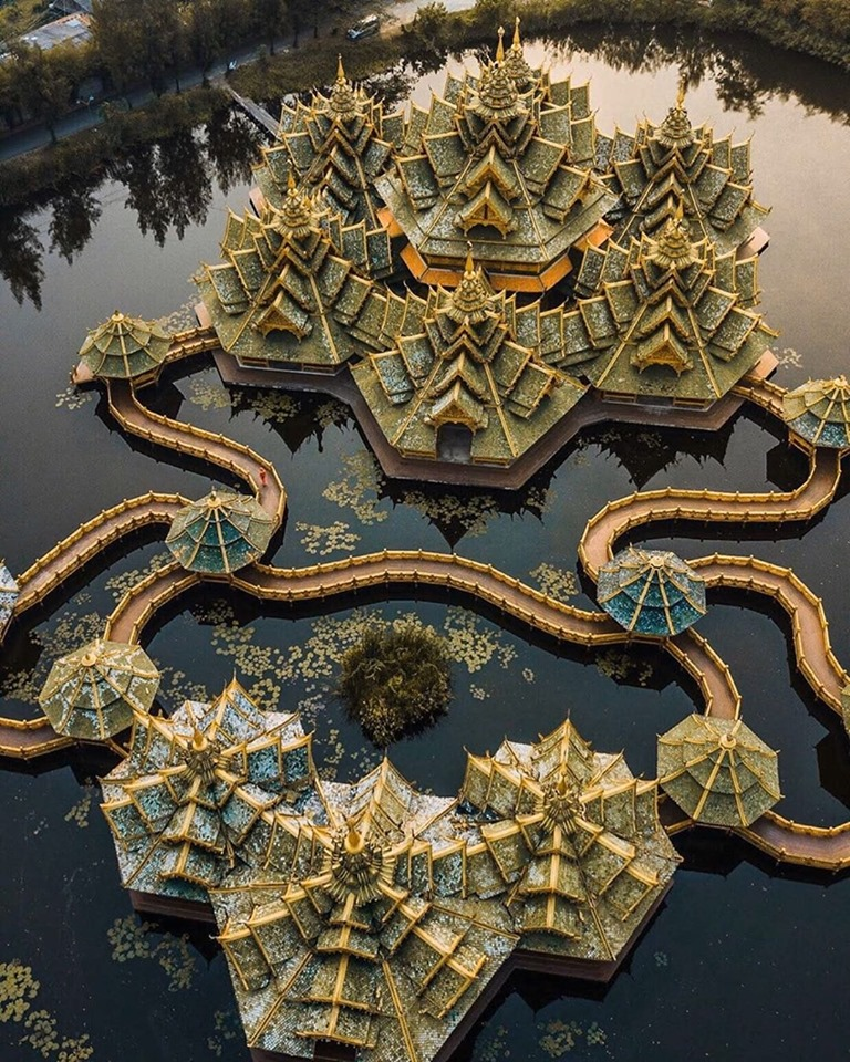 The Ancient City or Muang Boran is a huge open air museum shaped in the form of Thailand