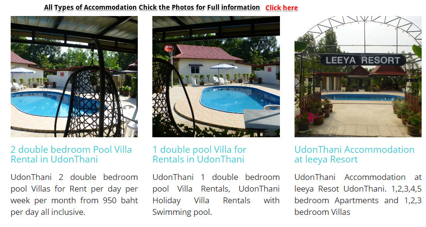 UdonThani Rentals Accommodation. We offer Apartment's Rooms and Villa Rentals in UdonThani